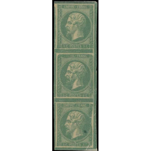35 - OFFICIAL ESSAY - showing the Governments research into preventing the re-use of stamps. c.1850s. Pri...