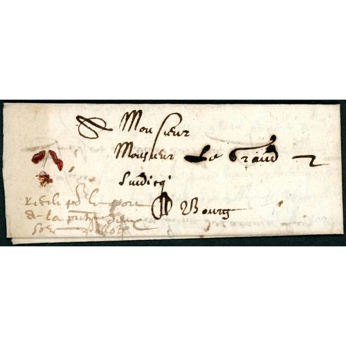 52 - EARLY INTERNAL LETTER WITH RATE ENDORSEMENT; 10 Mar. 1601 EL (minor faults; red wax seal remnants at...
