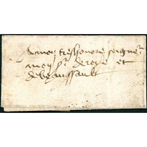 56 - VERY EARLY FOOT MESSENGER POST; 25 Oct. 1472 EL (few faults) to Beaumont written by the Comte de Mur...