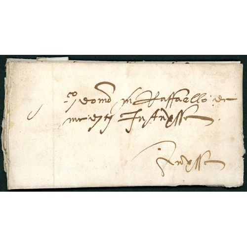 58 - EARLY LETTER WITH A FLORENTINE SEAL: 20 Sep. 1520 EL (minor faults) to Raffaello de Medici in Anvers...