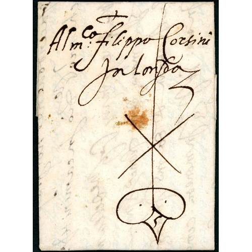 59 - CORSINI CORRESPONDENCE TO LONDON; 13 July 1575 EL to Filippo Corsini in London from the firm of Nicc...