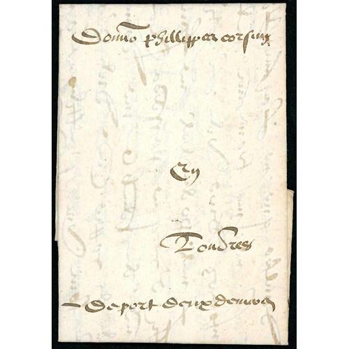 60 - EARLY MERCHANTS LETTER RATED 2d; 15 Aug. 1576 mostly v.fine EL to Filippo Corsini in London ex Borde...