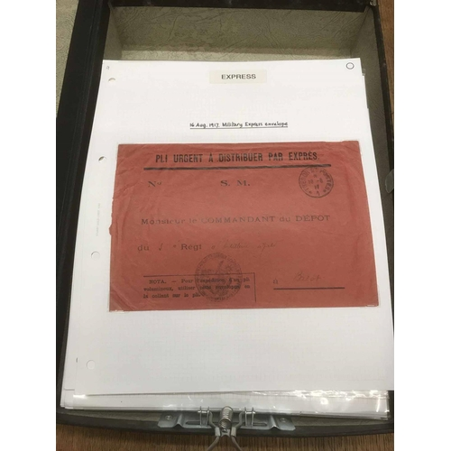 1 - BOX FILE containing an extensive Express Mail collection with approx. 80 covers showing a wide varie...