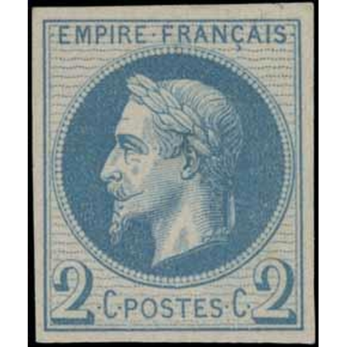 42 - PRINTING TRIAL - Napoléon Lauré (Type 1) c. 1863. Very nice, clean & well centred, 2 centime example...