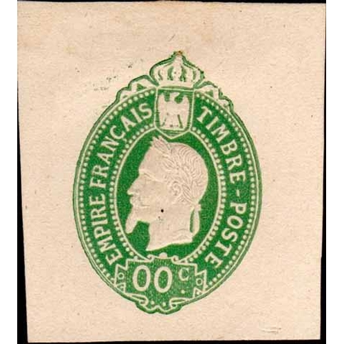 45 - POSTAL STATIONERY ESSAYS - Second design by Renard & engraved by Best c.1865/66 in 11 colours. Also ...