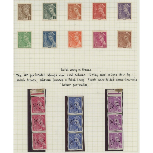 7 - COLLECTION OF IRIS, MERCURY & CERES definitives c. 1938 to 1944 (Hourriez) comprising of, Iris: 2 de...