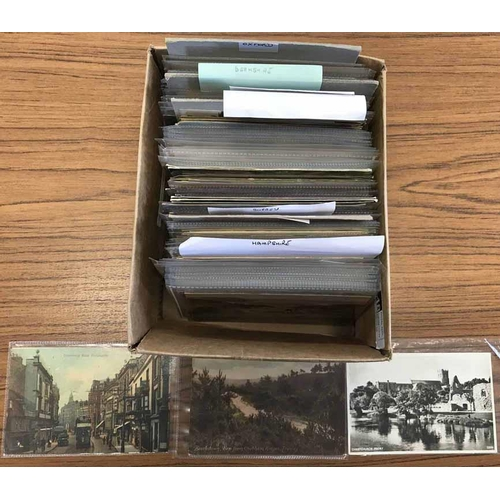 12 - SOUTHERN ENGLAND POSTCARDS - Small box containing ex-dealer's stock of Southern England postcards in...