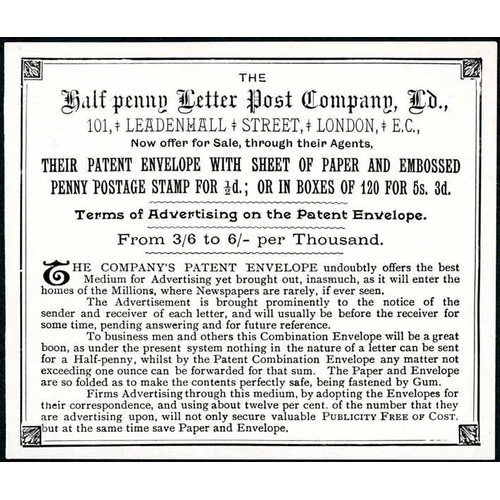 24 - HALFPENNY LETTER POST CO. LTD. & PROPOSED FARTHING RATE: 1880s notice from the