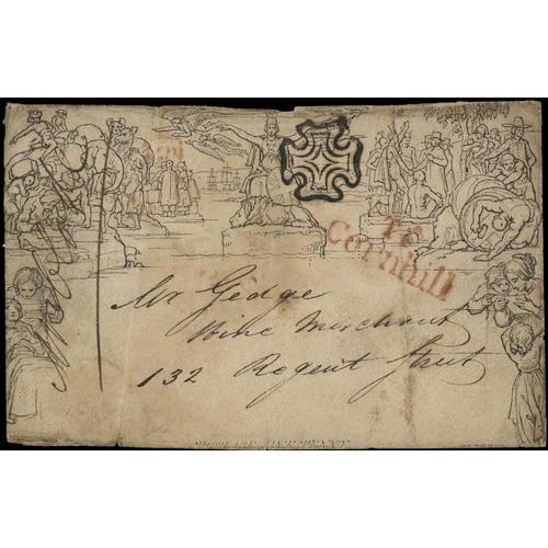 31 - MULREADY ENVELOPE, 1841 USAGE (A 131) - Addressed to Mr William Gedge, Wine Merchant 132 Regent Stre...