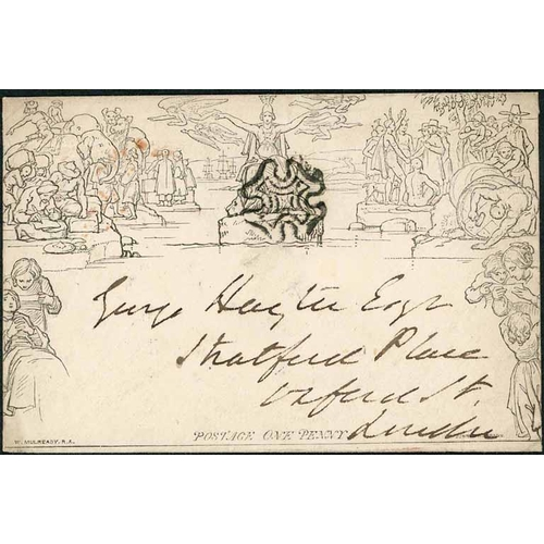 33 - 26 SEP. 1841/2 MAR. 1843 - 1d ENVELOPES INC. WITH TWO MX CANCELS - stereo A138 (torn flap, else fine...
