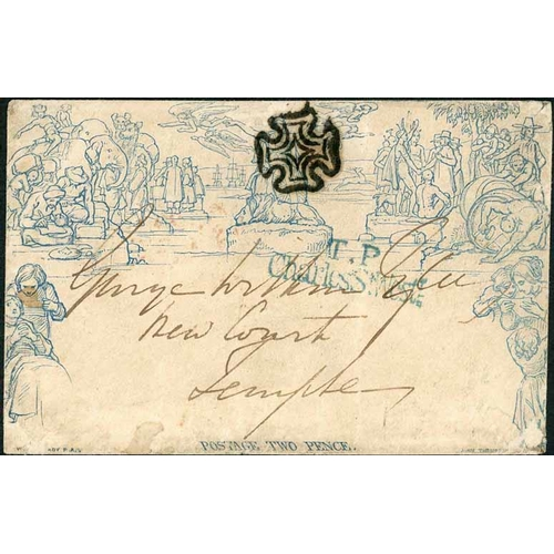 34 - 17 NOV. 1841 - 2d ENVELOPE USED WITHIN LONDON - stereo a210 (flap part rebuilt and small faults) can...