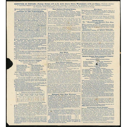 40 - 1d MULREADY LETTER SHEET with stereo number removed used from Oxford to Weston on the Green with a r...