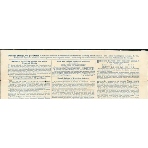41 - UNUSED GROUP - 1d & 2d INC. WITH PRINTED ADVERT PLUS SMALL-SIZED 2d REPRODUCTION - 1d l/sheet stereo...