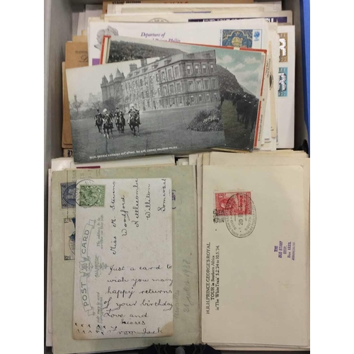 32 - MOSTLY GB & COMMONWEALTH COVERS - Box file containing mainly KGV to early QEII group of FDCs, souven...