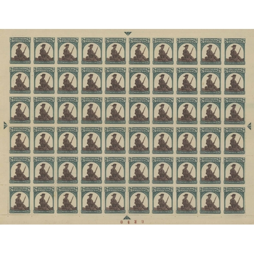 35 - MISCELLANEOUS COMPLETE SHEETS: Accumulation of mint sheets of German Weimar/Inflation stamps, Russia...