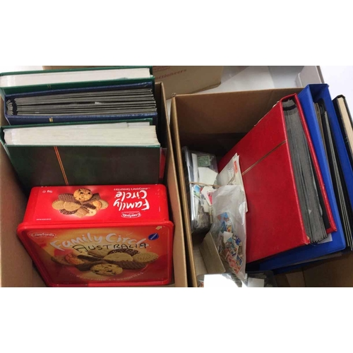 41 - MOSTLY AUSTRALIA, PLUS SOME NEW ZEALAND - Two cartons containing the accumulation, mostly used in st...