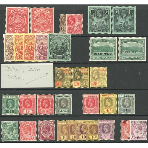 46 - MINT KGV SELECTION: mostly lower face value KGV issues from various countries inc. British Guiana 19...
