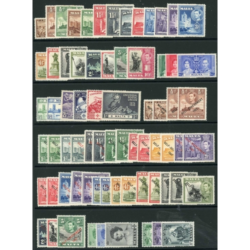 47 - MINT KGVI STOCK with a little duplication and values to 10/- with a good range of countries represen...