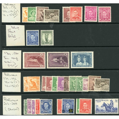 48 - A MINT GROUP ON LEAVES: Mainly KGVI & QEII selection inc. GB 1952-54 set, 1955--58 set and lifeboat ...