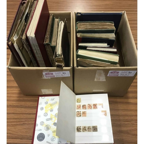 10 - MINT & USED 19TH & EARLY 20TH C. WORLDWIDE ASSORTMENT: Two cartons housing the accumulation in very ...