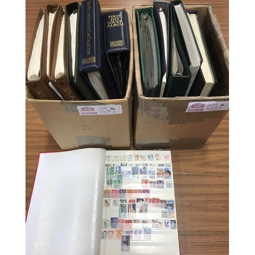 14 - GB AND FOREIGN WORLDWIDE COLLECTION: Two cartons housing a qty. of albums & binders with the collect...