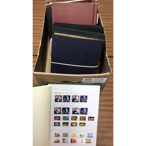 19 - ALL PERIODS MINT & USED: Large carton housing several albums/stock book with the all periods mint & ...