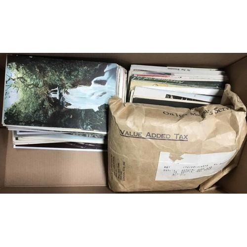 33 - c1910s-60s PPCs, CIGARETTE CARDS ETC - Shoebox containing British or European PPCs (c230), env. with...