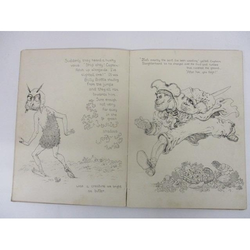 197 - Mervyn Peake - Captain Slaughterboard Drops Anchor, Country Life Book, London 1939, pictorial boards...