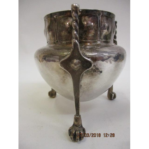 77 - An Arts & Crafts Cymric silver vase by Liberty & Co designed by Oliver Baker, Birmingham 1901 of tap...