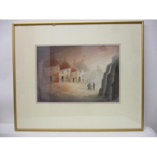 271 - Bernard Wheadon - 'Gold Hill Shaftesbury', watercolour, signed lower right corner, 10 1/2