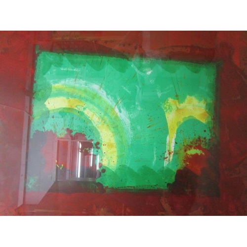 52 - Howard Hodgkin 1932-2017, Monsoon, lithograph printed in colours with pochoir hand colouring by Cind...
