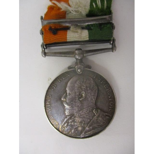 105 - An Edward VII Queen's South African medal with two clasps, South Africa 1902 and South Africa 1901, ...