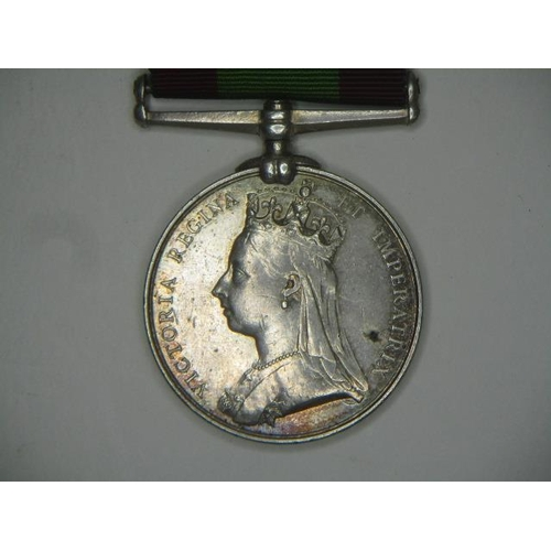 109 - A Victorian Afghanistan 1878-79-80 medal inscribed 6BDE 574 PTE W Thomas 1/25th Foot...