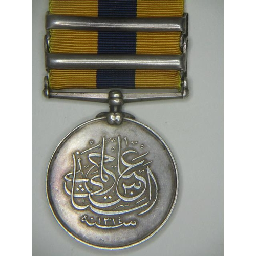 260 - A Khedive Sudan medal with two clasps, Hafir and Firket, un-named...