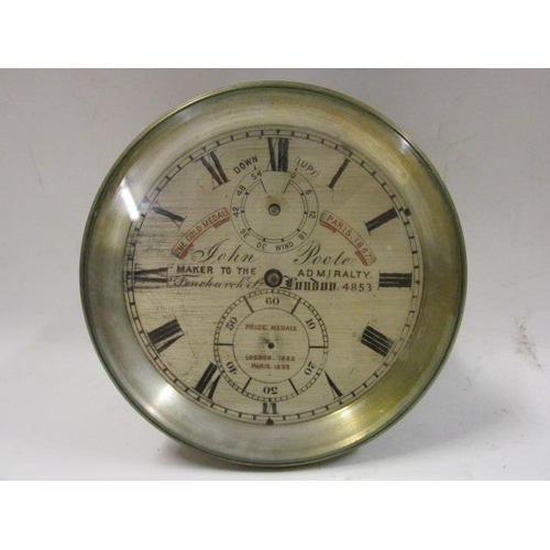 39 - A 19th century marine chronometer by John Poole, London having a silvered dial signed and inscribed ...