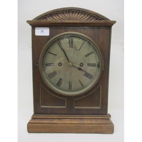 62 - A late 19th century German two train fusee bracket clock, the 8 day movement by Winterhelder & Hofme...