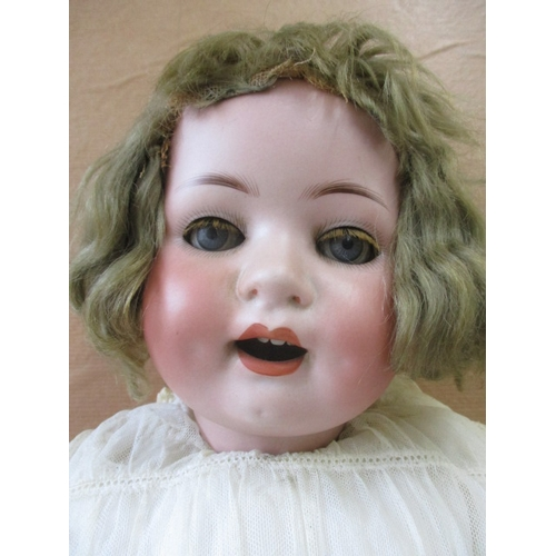 1 - Heubach Kopplesdorf 300.6 bisque headed child doll, closing blue glass eyes with eyelashes, open mou...