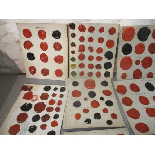 103 - Twenty four cards of 18th and 19th century wax seals...