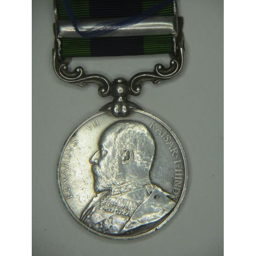 103 - An Edward VII Indian General Service medal with a clasp, South West Frontier 1908 inscribed 1234 H**...