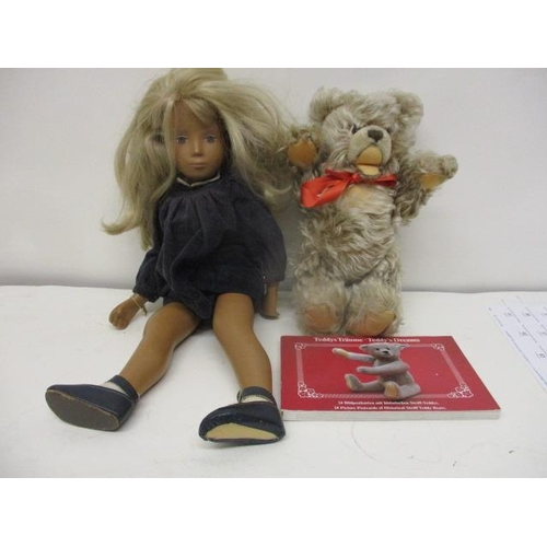 20 - A Sasha Blond, blue cord doll 1970, 16 1/2