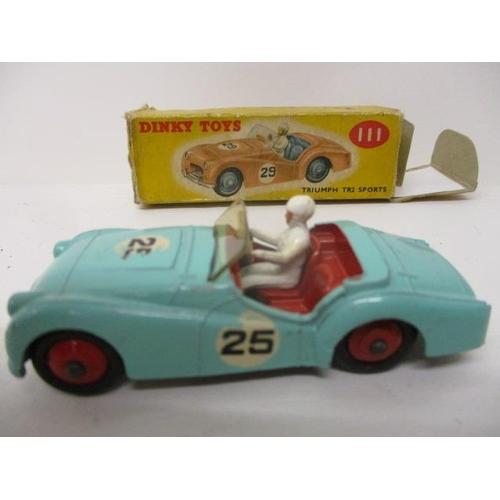 34 - A Dinky Toys diecast model car Triumph TR2 Sports no 111, boxed