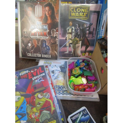 8 - A large collection of Moshi monster figures and others, together with Pokemon discs, mixed collector...