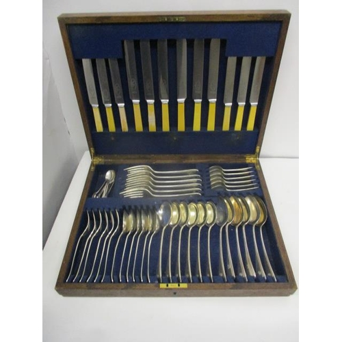 109 - A matched canteen of silver Old English pattern flatware by Barker Brothers Silver Ltd, 1937 and 193...