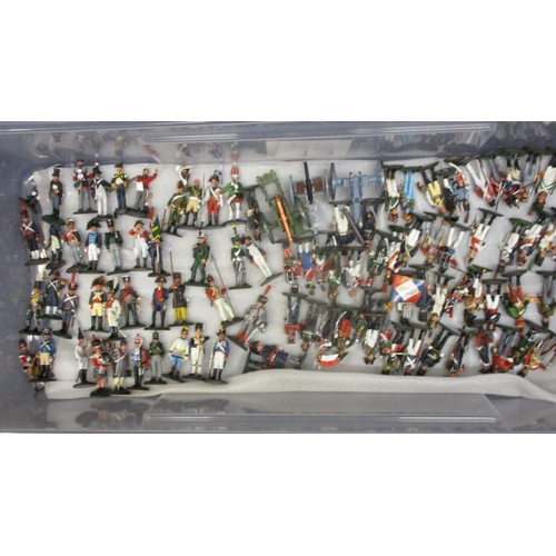 64 - Approximately one hundred and five Del Prado painted, cast metal toy soldiers to include Imperial Gu...