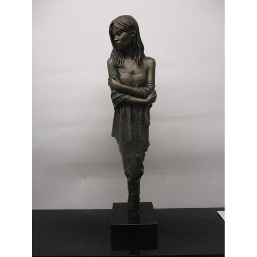 307 - Sherree Valentine Daines - 'Elegance', a cast and patinated bronze sculpture of a woman, limited edi...