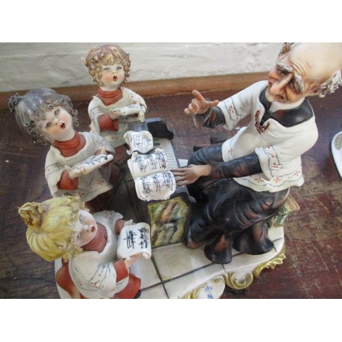 32 - A Capodimonte figure group The Choir by Rori...