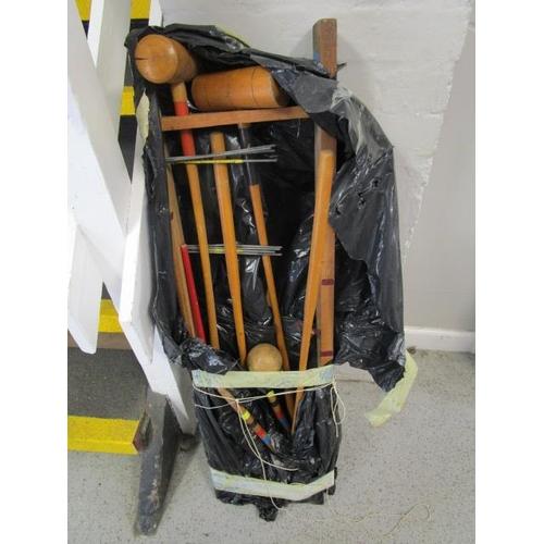 40 - A wooden croquet set...