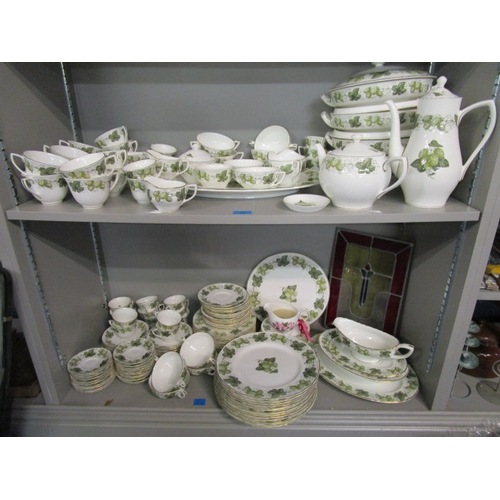 22 - The Worcester Hop, a Royal Worcester Mathon pattern dinner, coffee and tea service comprising approx...