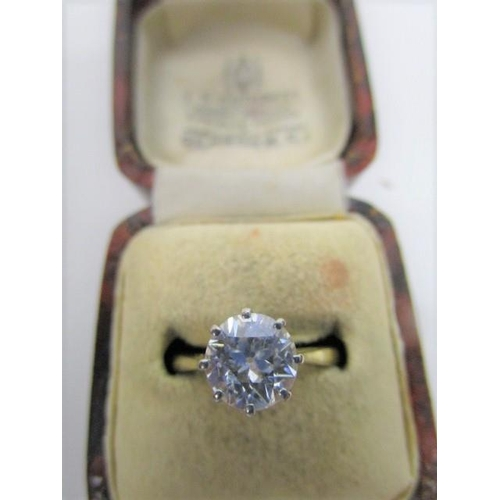 122 - An 18ct gold and platinum, brilliant cut solitaire diamond ring, approximately 1ct, total weight 3.3...