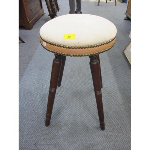 55 - A Victorian mahogany four-legged stool...